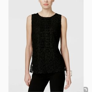 INC International Concepts Lace Front Tank NWT